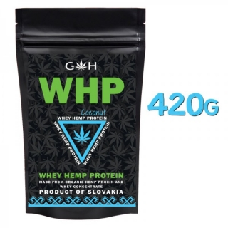 GH supplements Konopný proteín WHP 420g kokos